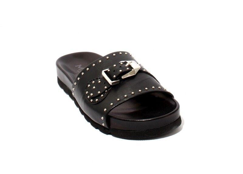 Mally 6200 De Cuero Cuero Cuero Negro Tachonado se Desliza Sandalias De Plataforma 39 US 9  Felices compras