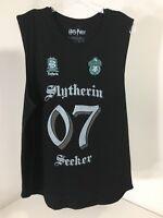 Harry Potter Men's Slytherin Seeker O7 Muscle Shirt Black Medium