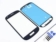 Cristal frontal para Samsung Galaxy s3 mini Azul Vidrio display pantalla táctil nuevo & OVP