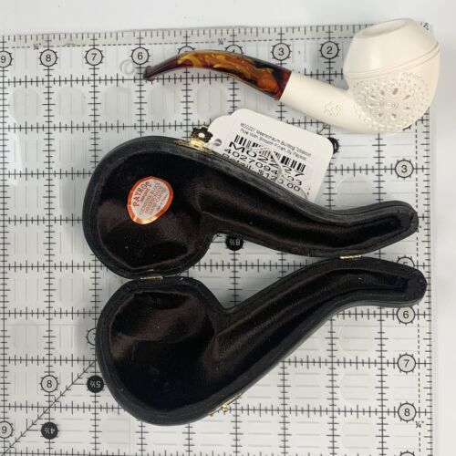 Bulldog Tobacco Pipe With Smooth Finish with Flower Star Burst,by Paykoc M0222