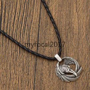 Men-Viking-Ravens-Crow-Pendant-Necklace-Norse-Nordic-Retro-Jewellery-Chain-Gift