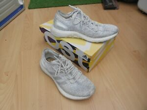 ADIDAS-PUREBOOST-TRAINERS-UK-SIZE-8-GREY-amp-WHITE-IN-AN-OK-CONDITION