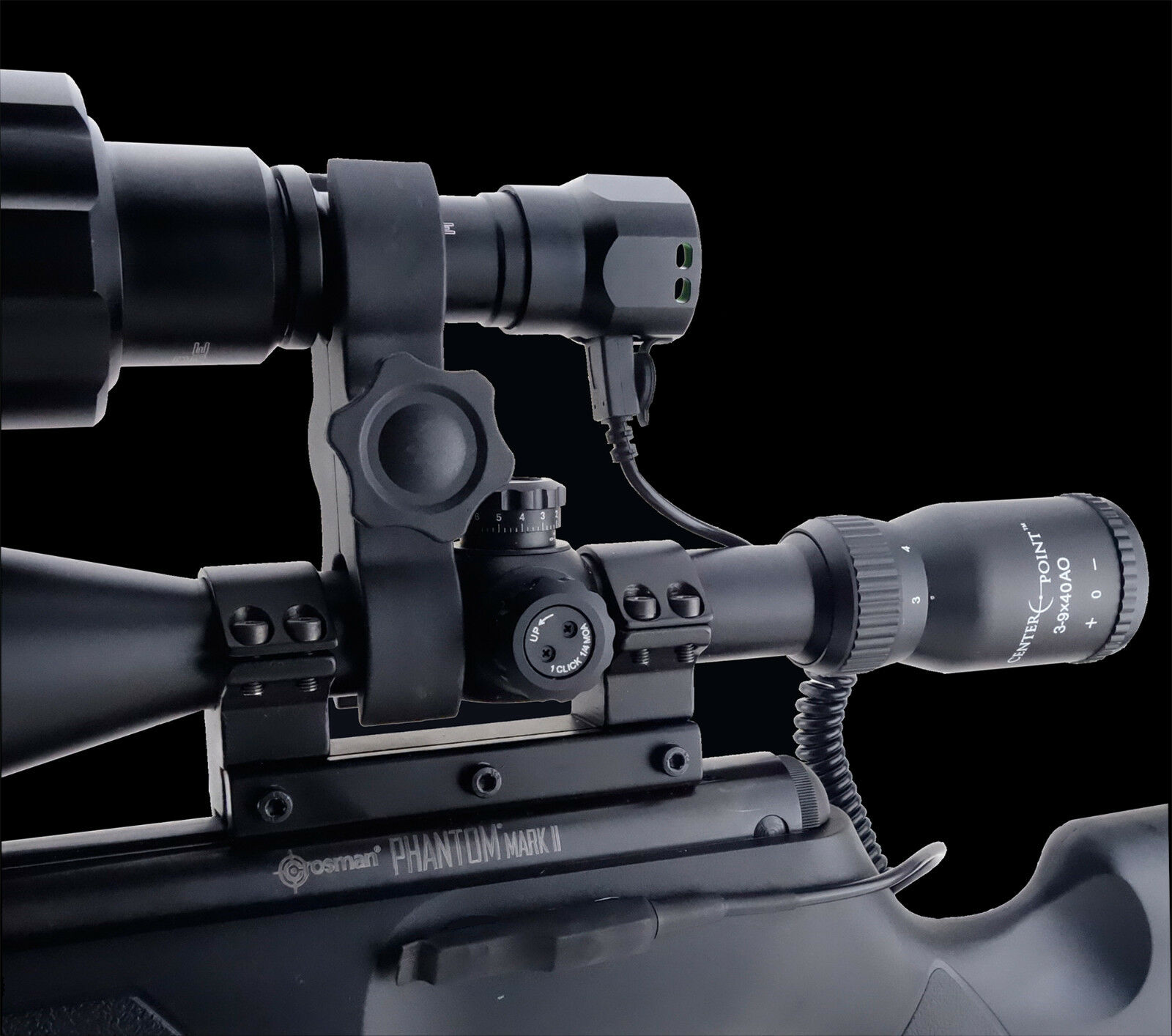 Opticfire® Opticfire® Opticfire® AG LED Scope mount gun light hunting lamp night vision NV IR torch 5952b0