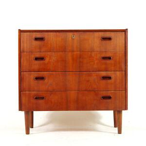 Retro-Vintage-Danish-Low-Teak-Chest-of-Drawers-1950s-60s-70s-Mid-Century-Modern