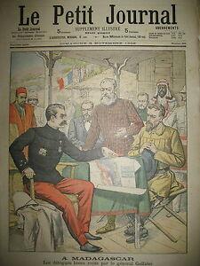 MADAGASCAR-DELEGUES-BOERS-ET-GENERAL-GALLIENI-LE-PETIT-JOURNAL-1902