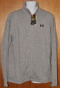 Mens Under Armour Storm Specialist Sweater Jacket Heather Gray