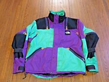 Men's VTG 80's 90's The North Face Rage Ultrex Purple Black Aqua Jacket sz L