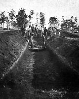 11x14 Civil War Photo: Burial Of Soldiers At Andersonville Prison, Georgia