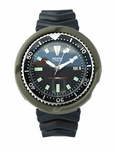 MILITARY-GREEN-watch-part-Tuna-SHROUD-for-7002-amp-6309-slim-case-Seiko-Diver