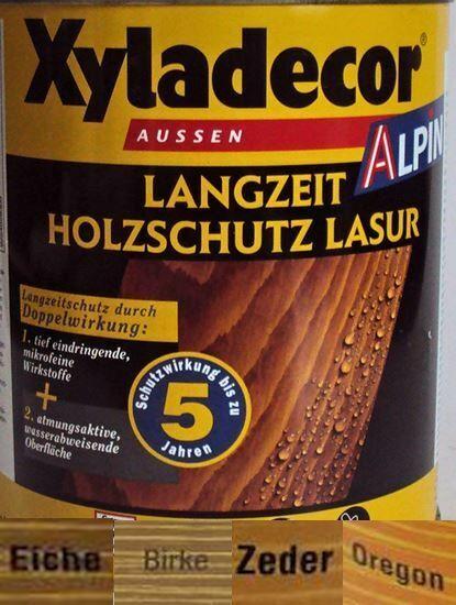 €6/L Xyladecor Alpin Birke Langzeit Holzschutzlasur 5 L Lasur 5 Liter DSL