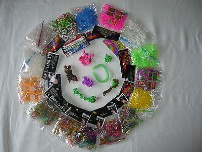 Rainbow Loom Bänder Lomm Band viele Farben Farbwechsel Nacht oder Wärme 200 300