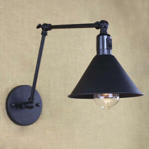 Industrial-Retro-Vintage-Adjustable-Swing-Arm-Light-Wall-Lamp-Sconce-with-Switch
