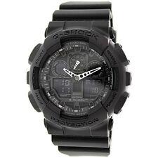 New Casio G-Shock GA-100-1A1 Analog Black Resin Strap Mens Watch