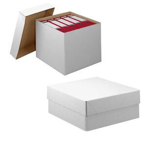 karton mit abnehmbarem deckel sehr stabil zweiwellig weis ve 20 st blitzversand ebay. Black Bedroom Furniture Sets. Home Design Ideas