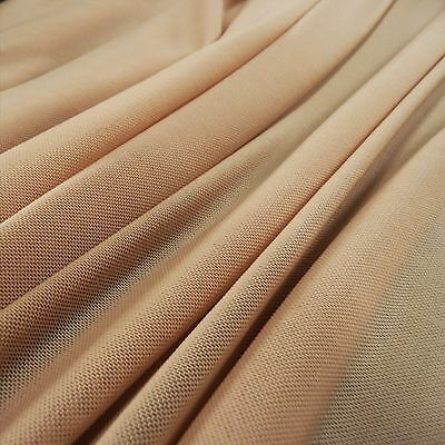 Lingerie Mesh Flesh Skin Colour Fabric 4 way stretch -illusion- by the yard or M
