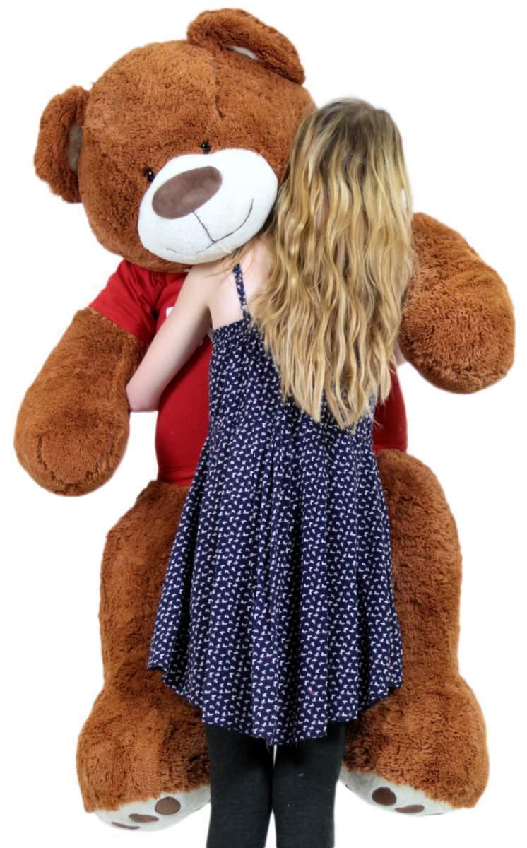 Happy Birthday 15m Gross Plusch Riese Teddybar Weich Zimt Farbe Tragt Shirt 16c322