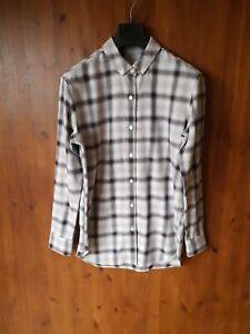 JACK-WILLS-LONGLINE-TUNIC-SHIRT-Grey-Check-Top-Brushed-Cotton-UK-10-12-NEW