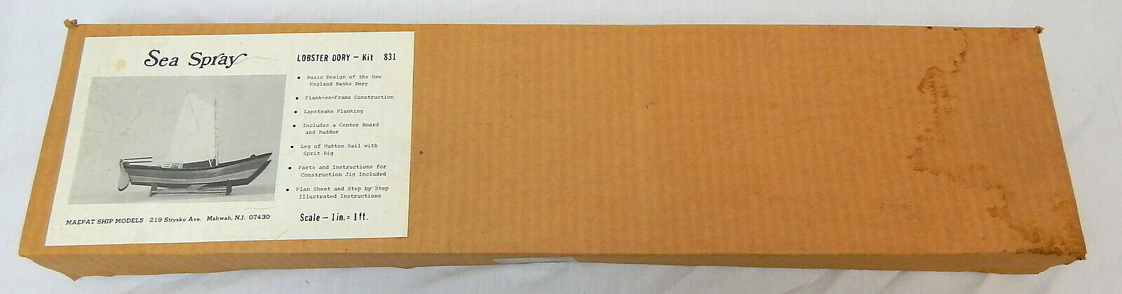 Modelo mapet, rociado de agua de mar de de de langosta Dory Wood. 857