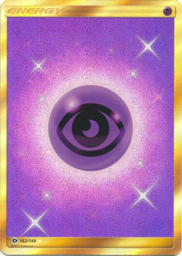 Pokemon Sun and Moon Psychic Energy 162//149 Secret Rare Card