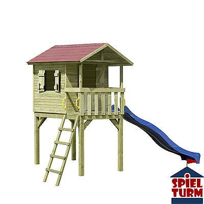 HOQ Stelzenhaus Benny Kinderhaus Spielturm Baumhaus Kinderspielhaus aus Holz NEU