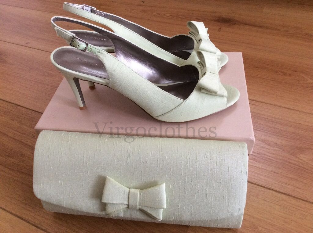NEW - Jacques Vert Schuhes & Handbag, Größe Bow, 8, Light Green With Bow, Größe Occasion 0e88dd