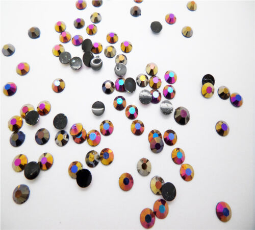 NEW 4mm 400pcs Jelly drill beads flat back Scrapbooking for crafts art AB Colors
