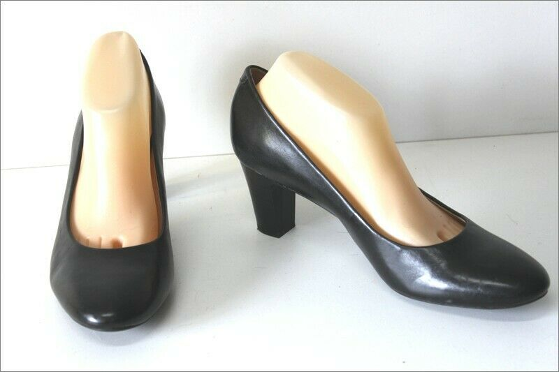 GEOX Breathed Leather Court shoes black Double leather T 41 MINT