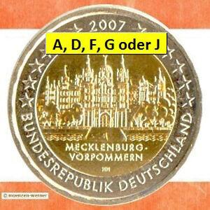Sondermünzen Brd 2 Euro Münze 2007 Schwerin Sondermünze Gedenkmünze