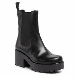 Vagabond Dioon Black Leather Tall Mid
