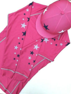 SXC Starburst Cross Country Colour XC Stars Eventing Equestrian Hat Silk Cover