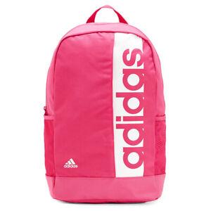 cáscara entregar Sucediendo  New ADIDAS Pink Linear Performance Backpack Rucksack (School/Gym/Travel)  4060509775911 | eBay