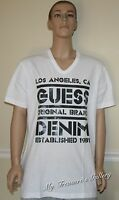Guess Mens Tee T-shirt Top White, Size Xxl,