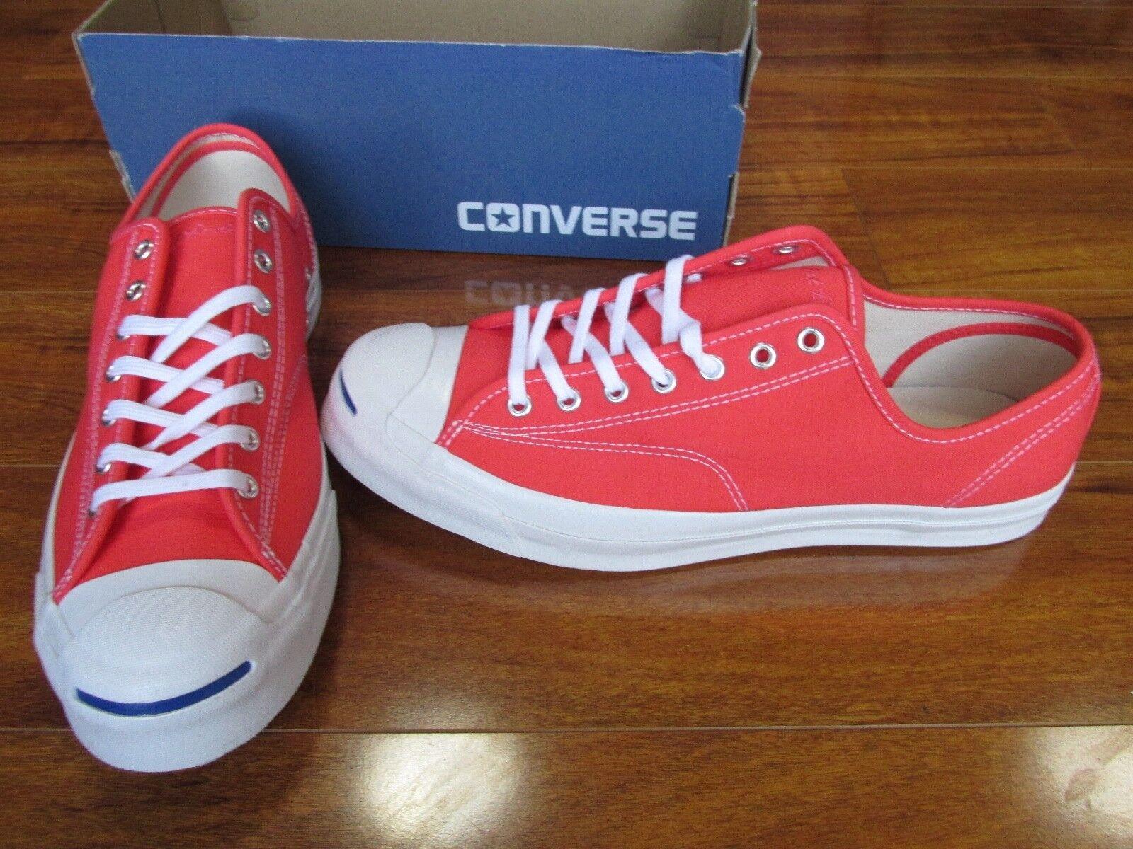 NEW Converse Jack Purcell Signature Ox shoes MEN 11.5 Hyper orange 155592C