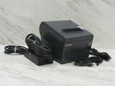 Epson Tm T88v Usb Rj 45 Pos Thermal Receipt Printer M244a With Ac With Usb Amp Rj 45