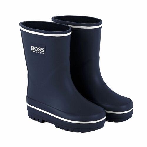HUGO BOSS Baby Gummistiefel Wellington Boots blau mit Logo 22 23 24 25 26