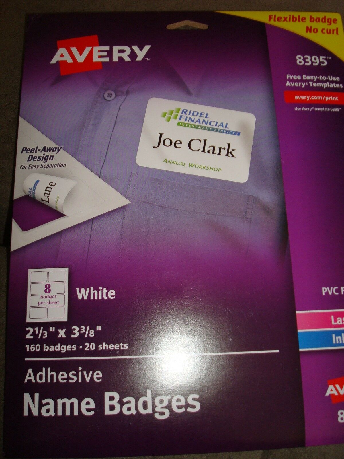 avery adhesive name badges labels 8395 310241201817 20 00