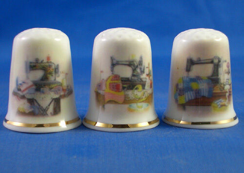 Sewing Tables Set of Three Birchcroft Thimbles
