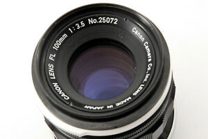 Rare-Excellent-Canon-FL-100mm-f-3-5-Manual-focus-Lens-From-Japan-700897