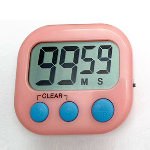 New Cooking Large Digital Lcd Clock Fridge Beep Magnetic Timer Kitchen Alarm