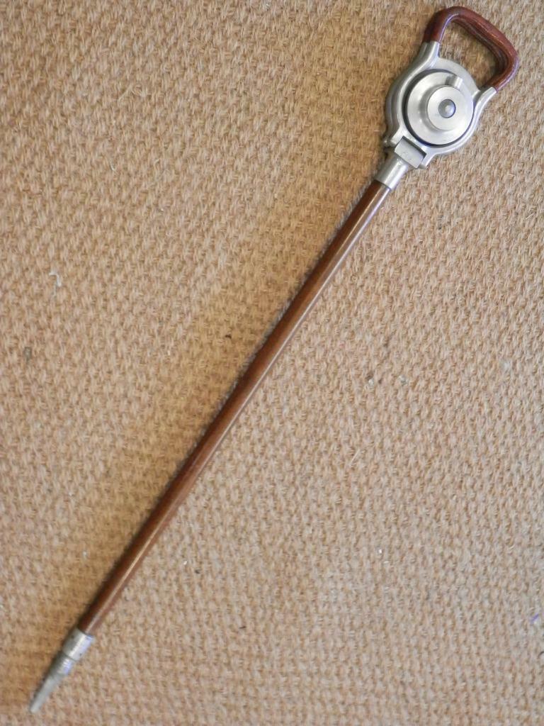 Vintage WS Mills Birmingham 'Elite' Shooting palo con eje lancewood Probado