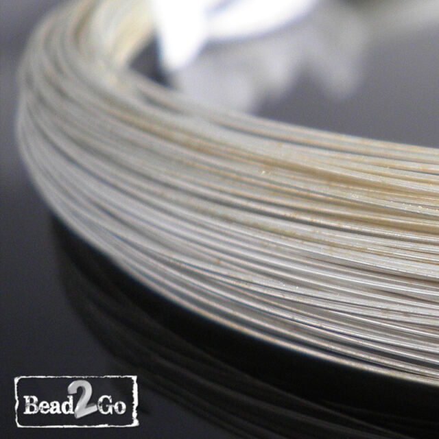 925 Sterling Silver Wire 28ga Round 1/2 Hard - Various Lengths - Wholesale Wire