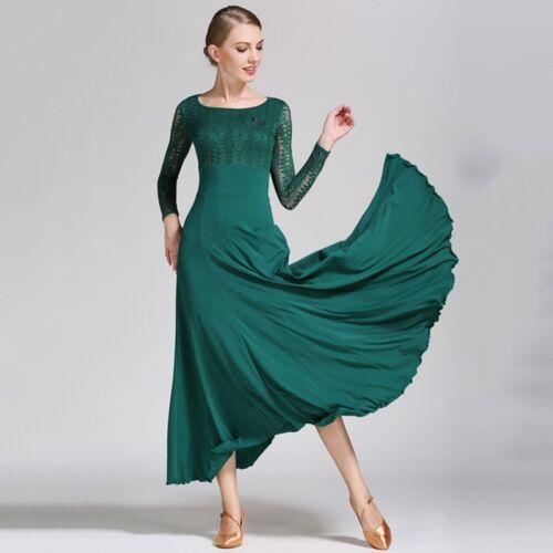 Adult Dancewear Maxi Modern Dance Dress Waltz Tango Quickstep Fox Trot Ballroom