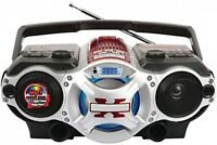 Bluetooth Boombox W Four-band Am Fm Radio, Electronics Home Audio Sound Compact on sale