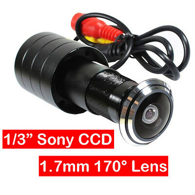 "Mini 1.8mm Lens HD 420TVL Wide Angle Peep Hole Camera 1/3"" Sony CCD For Security"