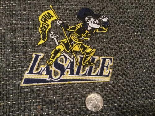 "La Salle University Explorers Vintage EMBROIDERED Iron ON PATCH 3.5"" X 3"""