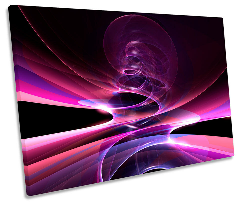 Abstract Plasma Strobe SINGLE CANVAS WALL ART Picture Print