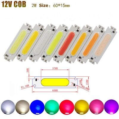10pcs DC 9-12V 100mA High Power COB LED Stripe Chip Light Emitting Diode Panels