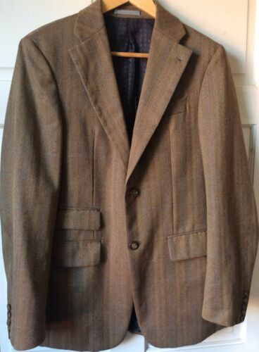 verdi lana Wool Checked 36 Mens Giacca 100 Green 100 36 quadretti a in lana Jacket Zw7xwIEq1n