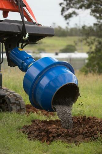 """Details about  /Cement Mixer Mixing Bowl Attachment Fits Auger Post Hole Digger 2/"""" Hex Collar"""