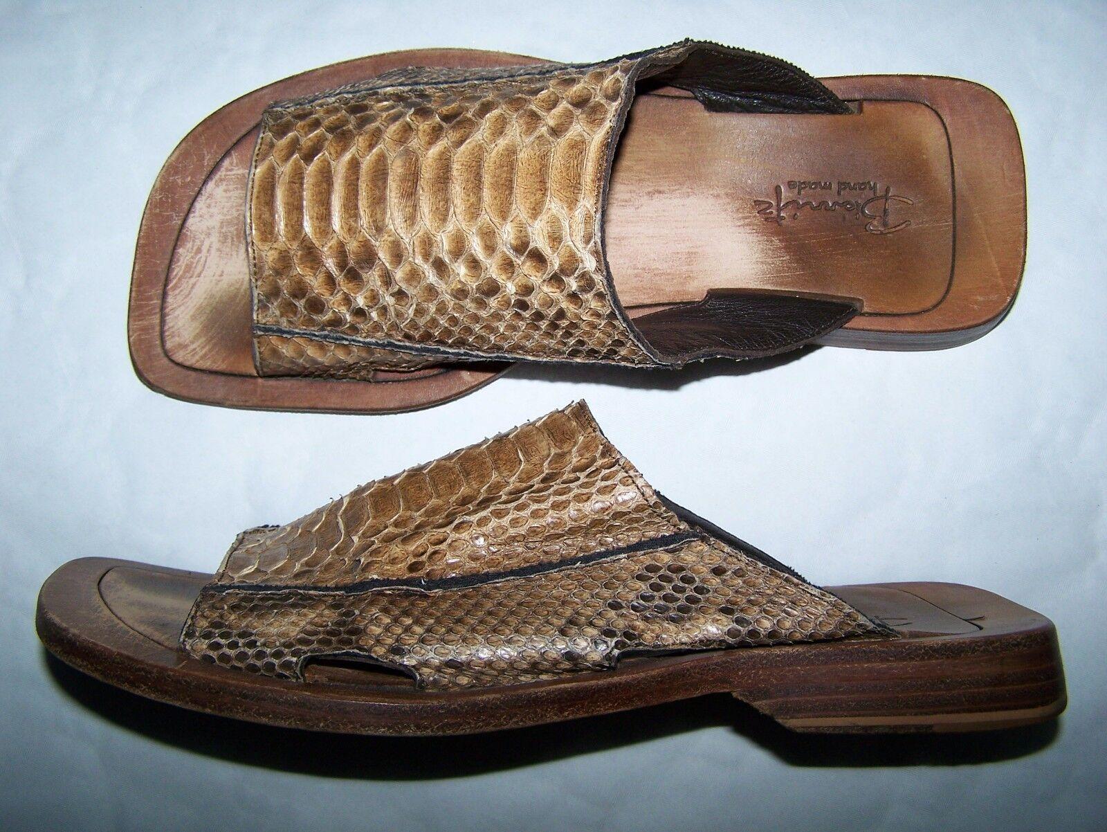 zapatos  BIARRITZ  Sandals Python No. 42 Summer Python zapatos Hand Made in